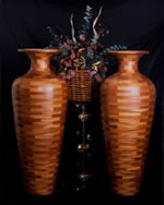 Art Kraft Wood Products, Inc segmented vases